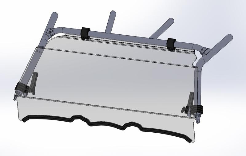 Pare-brise DIRECTION 2 avant complet pliable Yamaha YXZ1000