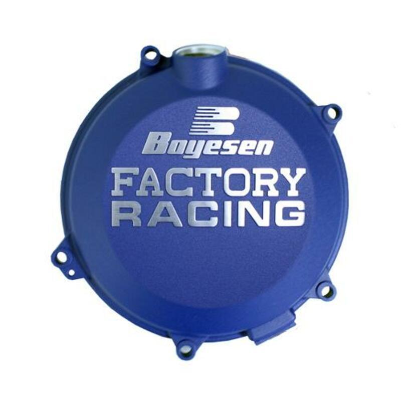 Couvercle de carter d'embrayage BOYESEN Factory Racing alu Race Blue KTM/Husqvarna