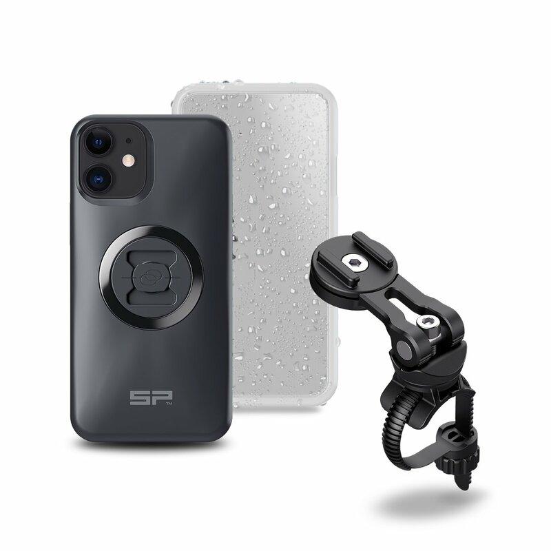 Pack complet SP-CONNECT Bike Bundle II fixé sur guidon et potence iPhone 12 Mini