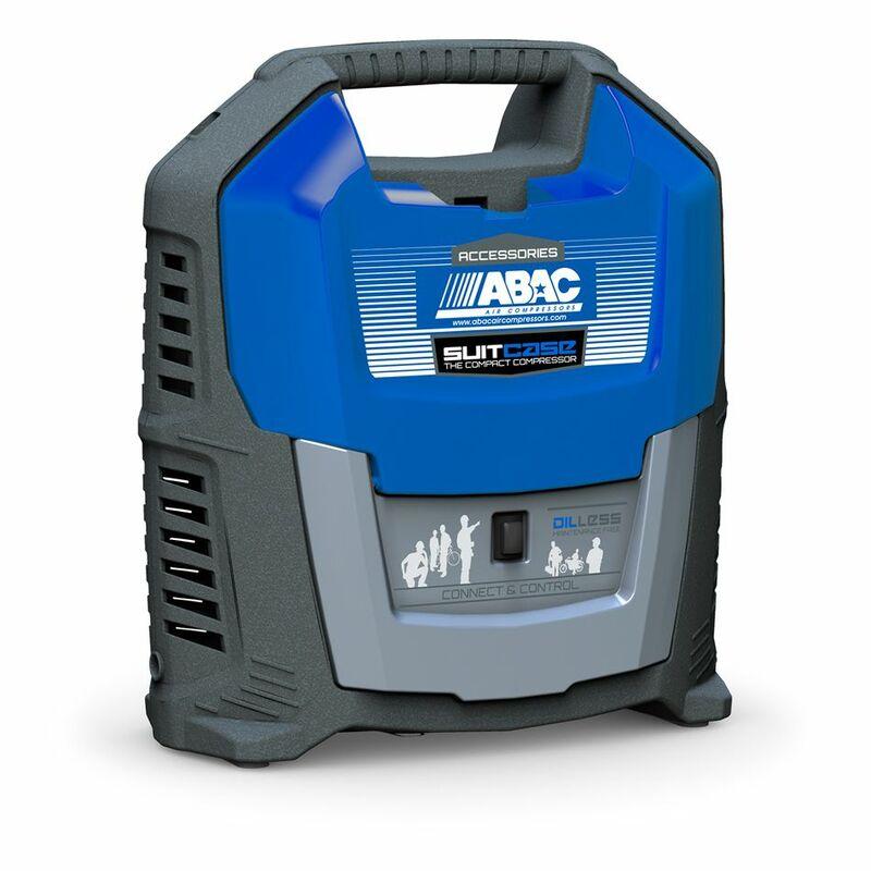 Compresseur portable ABAC sans huile 1,5CV - 4kg - 8 bars
