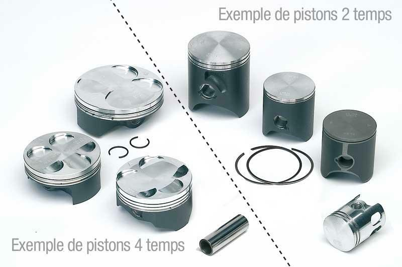 Piston VERTEX forgé Ø76.96mm haute compression Yamaha YZ250F