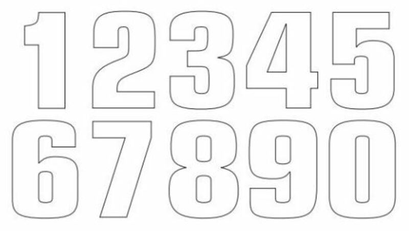 Numéro de course 7 TECNOSEL 20x13cm blanc jeu de 3