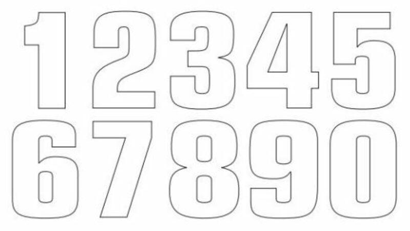 Numéro de course 8 TECNOSEL 20x13cm blanc jeu de 3