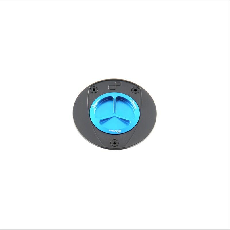 Bouchon de réservoir LIGHTECH aluminium à vis - cobalt