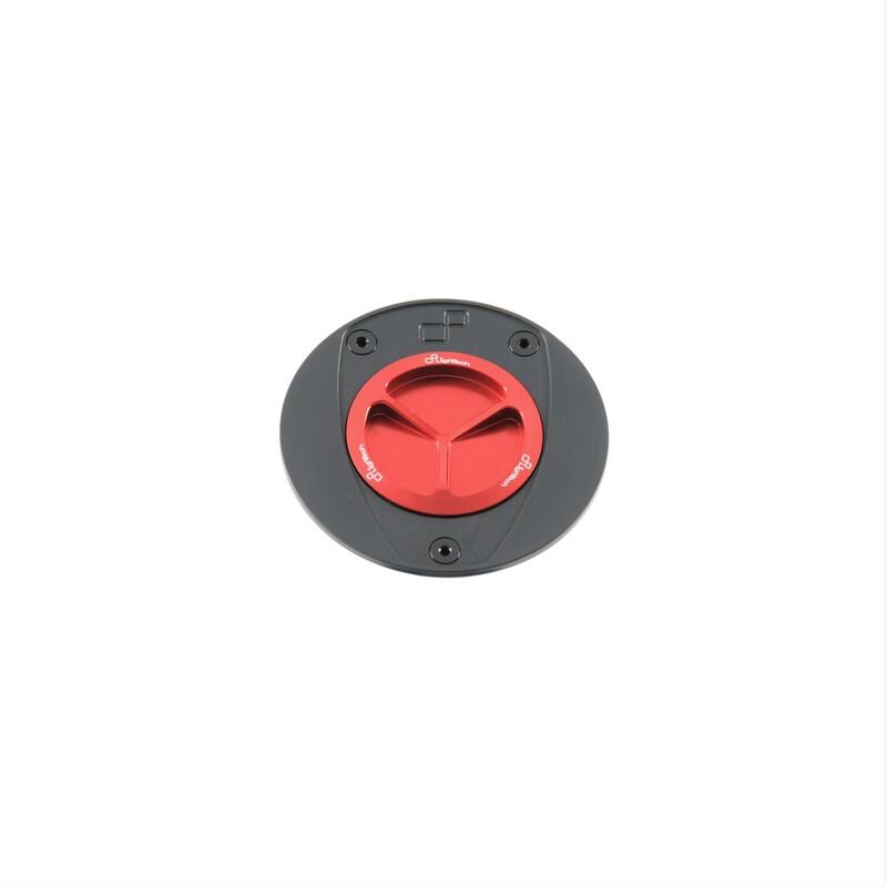 Bouchon de réservoir LIGHTECH aluminium à vis - rouge