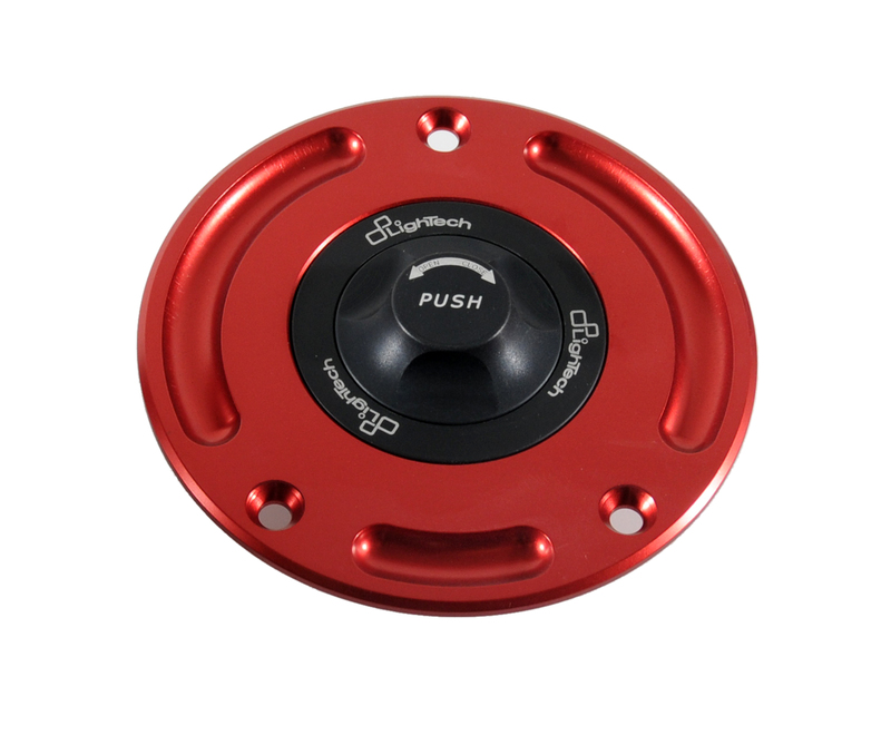 Bouchon de réservoir LIGHTECH 1/4 tour noir/rouge Honda CBR1000RR