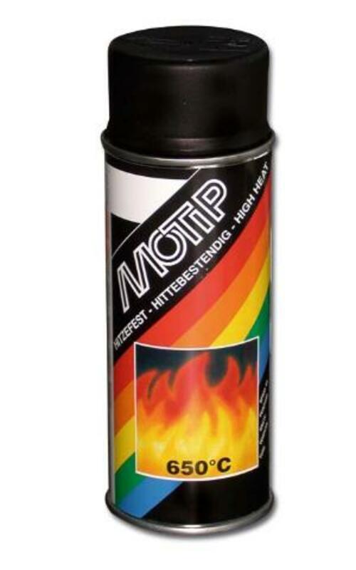 Peinture haute température MOTIP Noir - spray 400 ml