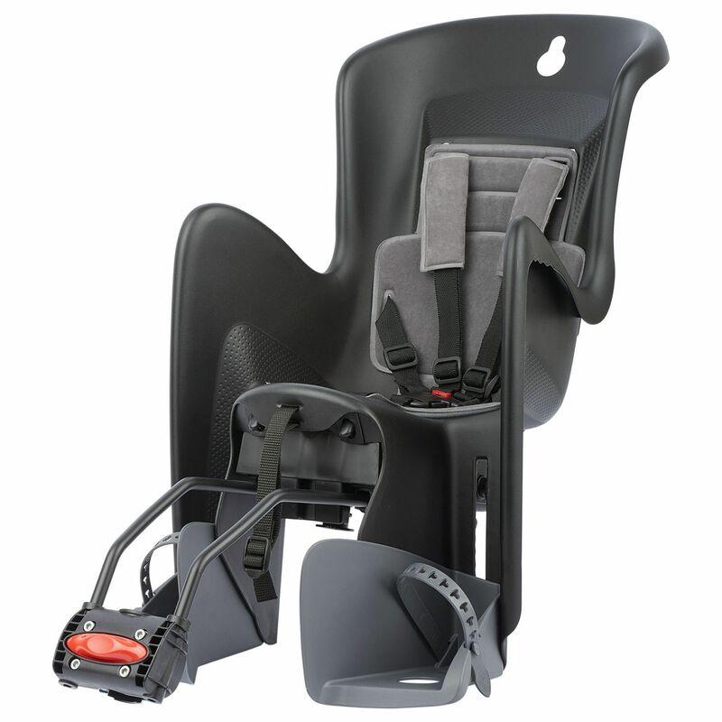 Siège de vélo arrière inclinable POLISPORT Bilby Maxi RS fixation cadre - noir/gris foncé