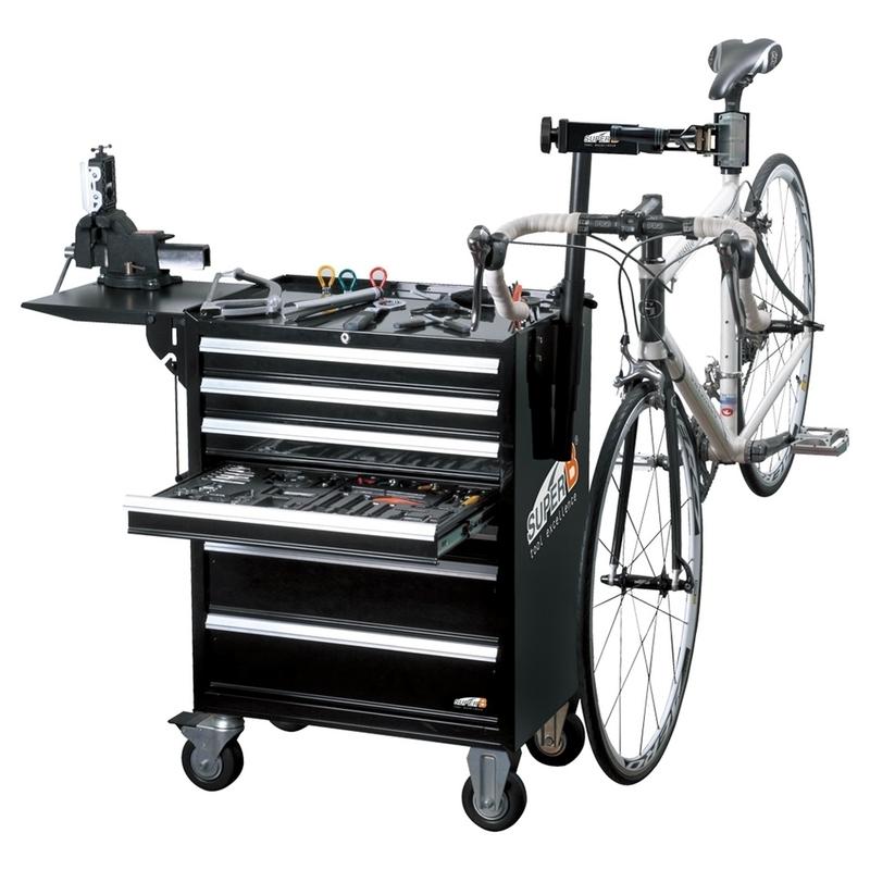 Servante vélo SUPER B Pro avec tablette en plastique