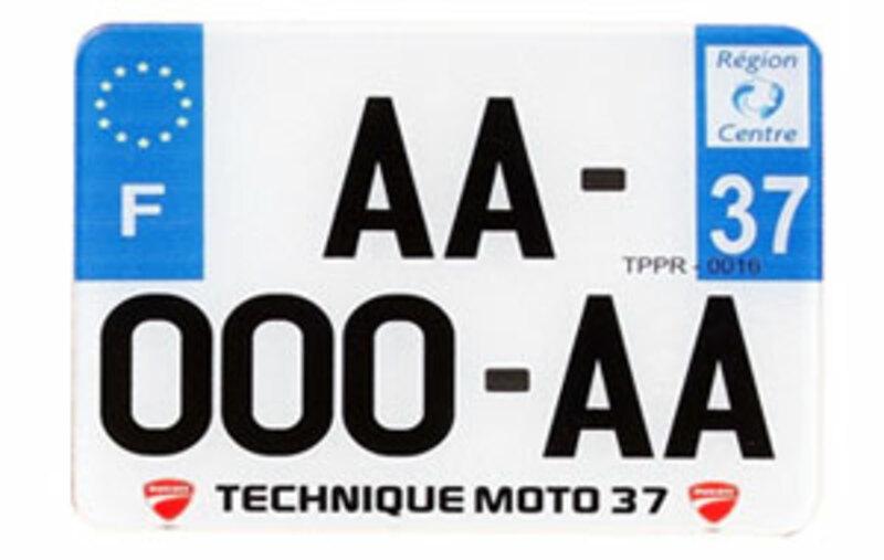 Plaques Françaises PPI 210x130 SIV Département 13 PVC 10 pièces