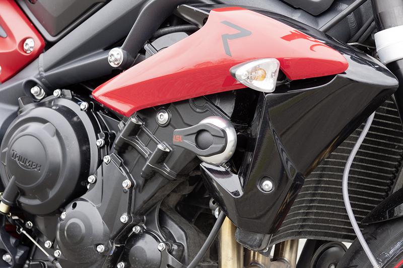 Kit Fixation Crash Pad LSL alu - Triumph 675 Street Triple