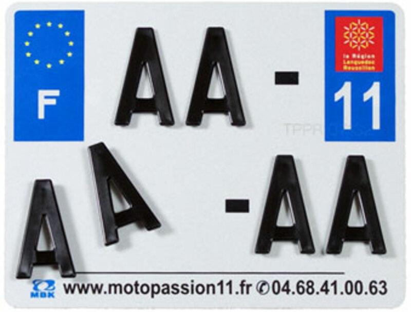 Plaques Françaises PPI 210x130 SIV Département 77 aluminium 10 pièces