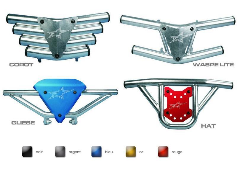 Bumper CROSS-PRO Waspe lite aluminium - Honda TRX700XX