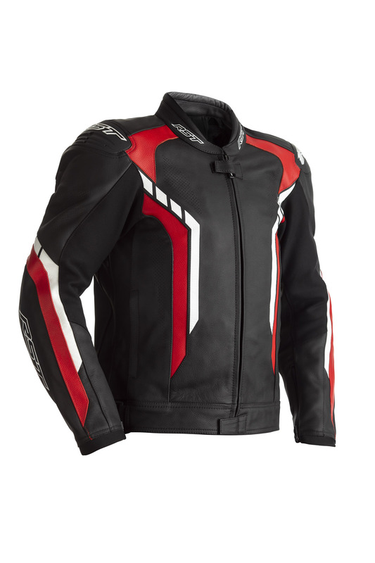 Blouson RST Axis CE cuir - rouge taille 3XL