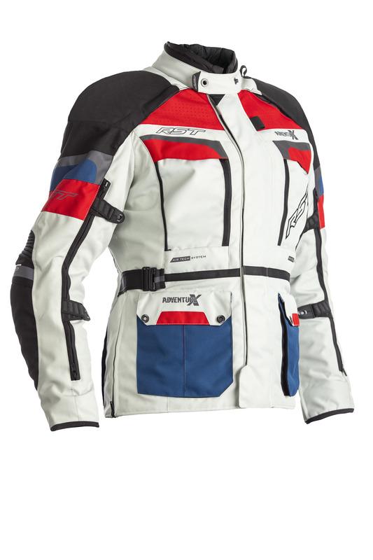 Veste RST Adventure-X CE femme textile - glace/bleu/rouge taille S