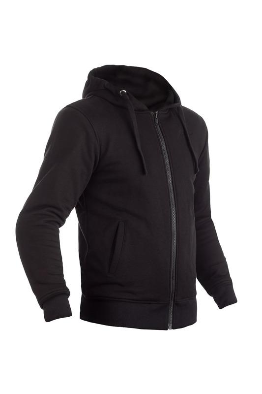 Sweatshirt à capuche RST Zip Through Kevlar® CE textile - noir taille L