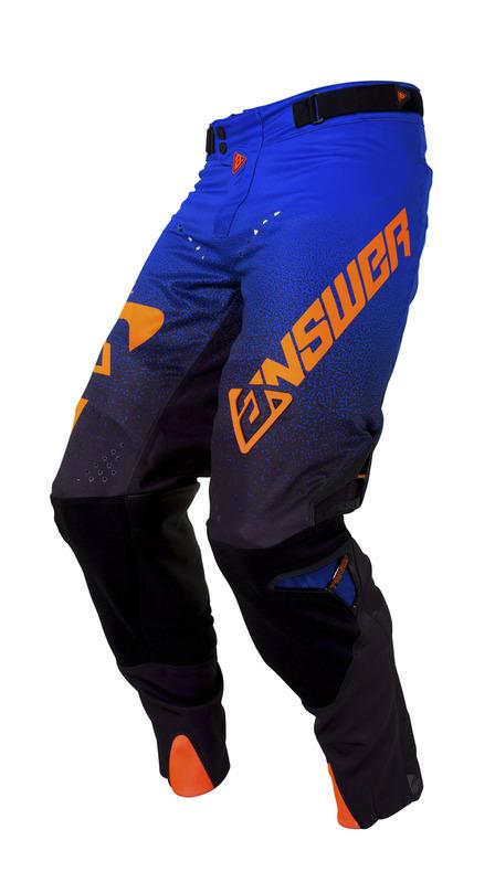 Pantalon ANSWER Trinity noir/cobalt/orange fluo taille 32