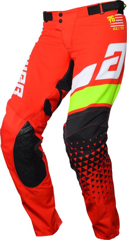 Pantalon ANSWER Elite Korza Red/White/Hyper Acid/Black taille 34