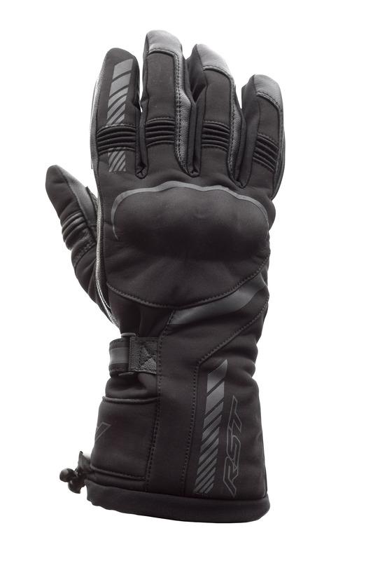 Gants RST Atlas Waterproof CE textile - noir taille L