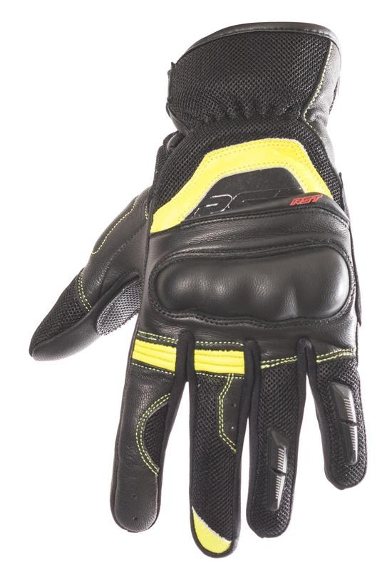 Gants RST Urban Air II CE cuir/textile -jaune fluo taille 2XL/12