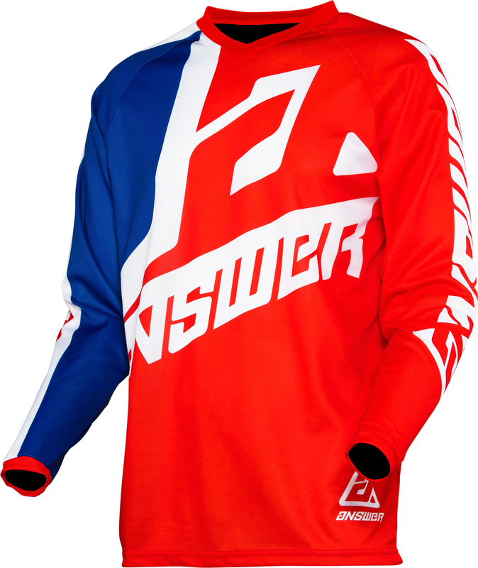 Maillot ANSWER Syncron Voyd Red/Reflex/White taille M