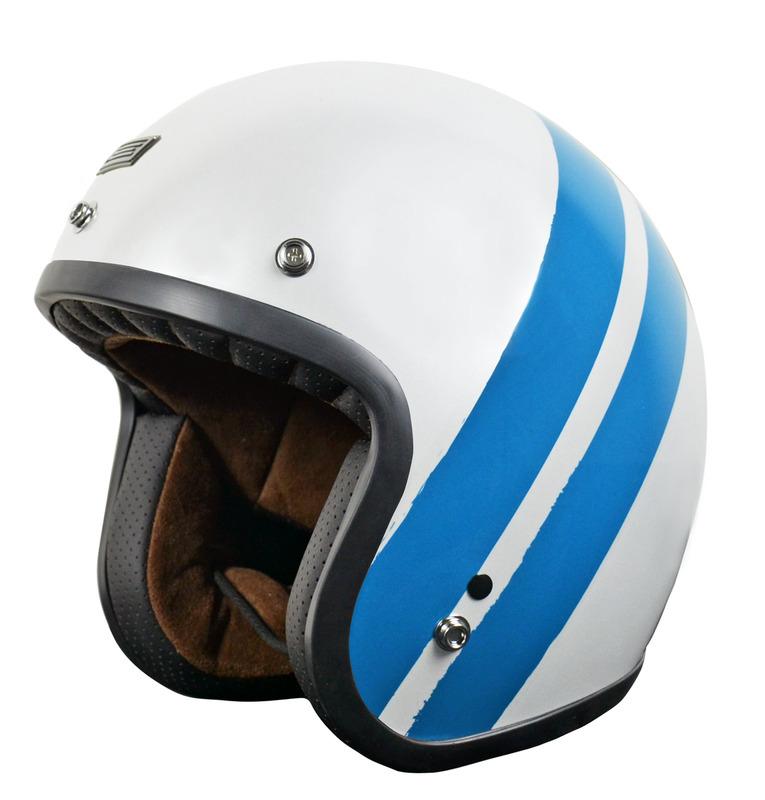 Casque ORIGINE Primo Jack Gloss White Blue taille L