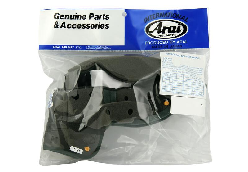 Coiffe intérieure ARAI Dry-Cool taille XS/S 10mm (épaisseur standard XS) pour casques Rebel/Chaser-V/Chaser-V PRO