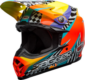 Casque BELL Moto-9 Mips Tagger Breakout Orange/Yellow taille XS