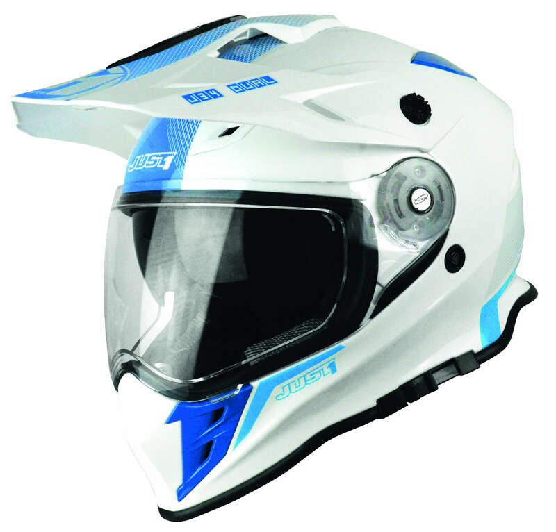 Casque JUST1 J34 Adventure Shape Blue Neon Gloss taille S