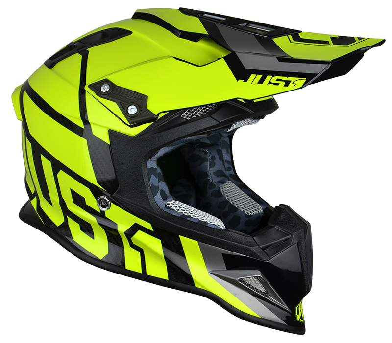 Casque JUST1 J12 Unit Neon Yellow taille XS