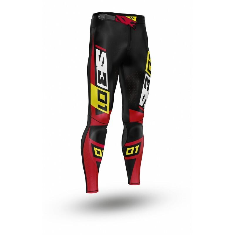 Pantalon S3 Collection 01 - noir/rouge taille 40