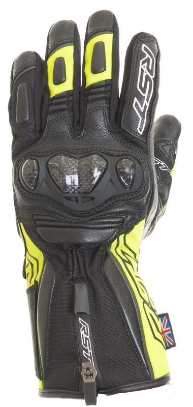 Gants RST Paragon V CE Waterproof cuir/textile - jaune fluo taille L/10