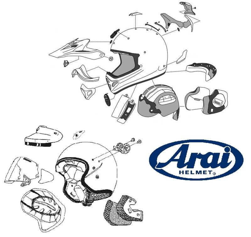 Pièces SAV ARAI Kit ventilation arrière Gun Metallic Frost casques jet