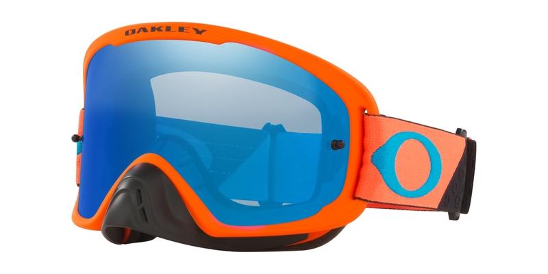 Masque OAKLEY O Frame 2.0 Pro MX B1B Orange Gunmetal écran Black Ice Iridium