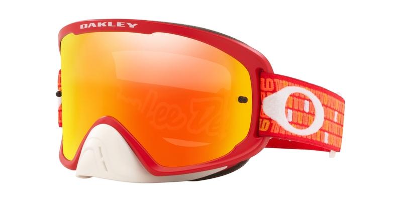 Masque OAKLEY O Frame 2.0 Pro MX Troy Lee Design Monogram Orange Red écran Fire Iridium