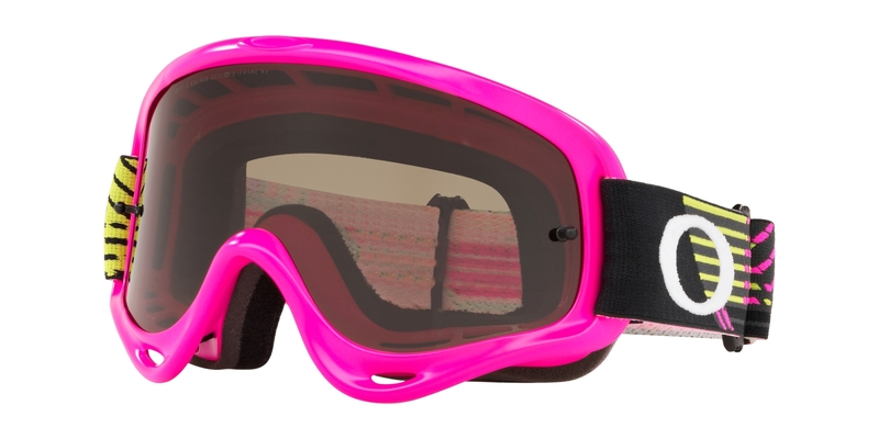 Masque OAKLEY O Frame MX Circuit Pink Green écran Dark Grey & clair