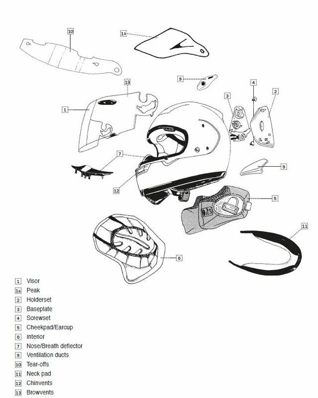 Ventilation DUCT-5 ARAI casque intégral Tint