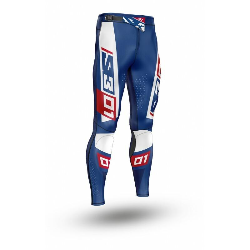 Pantalon S3 Collection 01 Patriot rouge/bleu taille 46